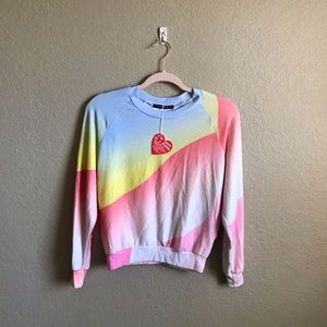 Wildfox Galactica Colorful Crewneck Sweatshirt XS